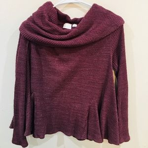 Maroon Anthropologie knit shirt ❤️